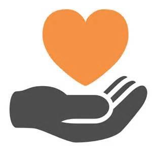 give-hand heart